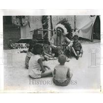 1962 Press Photo Ottawa Tribe Deer Haven Park Program - RRR86745