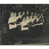 1936 Press Photo Paulist Choristers, Navy Pier, Chicago