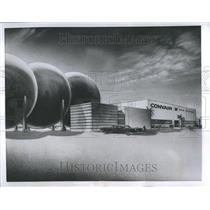 1955 Press Photo Domesticated Cyclone Wind Tunnel