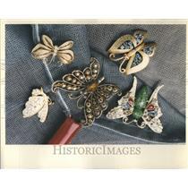1993 Press Photo Butterflies Flit  Rhinestone Profile