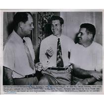 1952 Press Photo St Louis Brown Coaches Bill Norman & Bob Scheffing