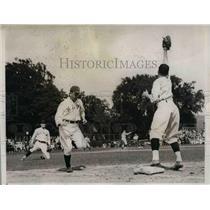 1935 Press Photo J.K. Knapper Navy baseball Player