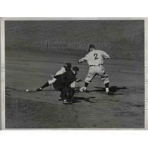 1933 Press Photo Red Sox McMarhis vs Yankee in season opener - nea05989