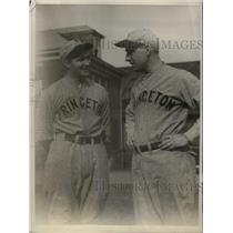 1930 Press Photo Princeton baseball,John O'Farrell & coach Byrd Douglas