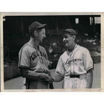 1947 Press Photo Chicago White Sox, Joe Keihel, St Lawrence D Joe Kuhel