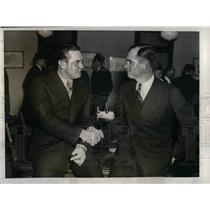 1937 Press Photo New York Giants Manager Bill Terry w/ Travis Jackson