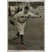 1935 Press Photo NY Giants Sharkey Filand at training camp - nea12979