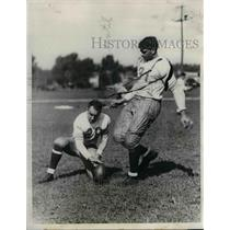 1931 Press Photo Northwestern U football, Dallas Narvil & Al Moore - nea13516