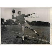 1935 Press Photo Gardner Prouty Jr. (Backfield) tries out for the Harvard