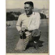 1930 Press Photo Nibs Price, Coach of Univ. of California Football Team.