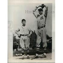 1929 Press Photo HS pitcher Frank Bowman at practice - nea07709