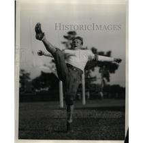 1928 Press Photo Lud Frentrup, Halfback of Stanford University Football Team.