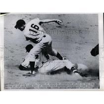 1950 Press Photo Sam Jethro of Braves, Connie Ryan of Cincinnati Reds