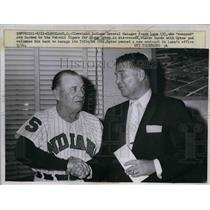 1960 Press Photo GM Frank Lane Welcomes Jimmy Dykes As New Manager