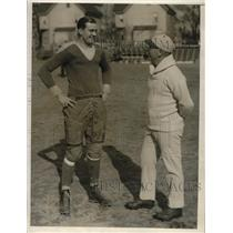 "1930 Press Photo NY University coach ""Chick"" Neehan & Jerry Nemeck"