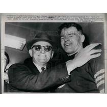 1963 Press Photo Bears coach Gweorge Halas & QB Bill Wade