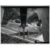 1961 Press Photo View from a Blimp Gondola - nea38408