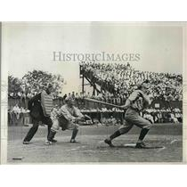 1934 Press Photo Williamson of Yale At Bat at Alumni Festivities For Princeton