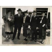 1938 Press Photo Members of American Red Cross Committee Back From Conference
