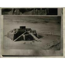 1930 Press Photo The Ziggurat, Staged Tower at Ur of the Chaldees