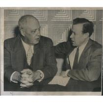 1953 Press Photo AFL President George Meany CIO President Walter Reuther