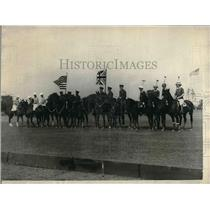 1923 Press Photo American and British Army Polo teams meet at opening cemermony
