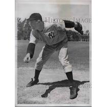 1939 Press Photo Jack Haley Star Rookie Pitcher New York Yankees Spring Training