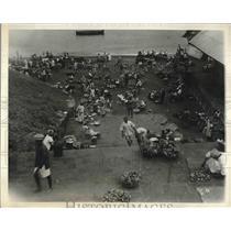 1933 Press Photo Natives Market in Freetown, Sierra Leone in West Africa