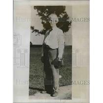 1933 Press Photo Mike Flanagan Clerk Court World Series Champion Fan Red Sox