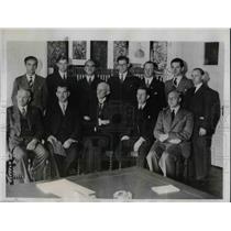 1935 Press Photo Swedish Red Cross, Pastor Svensson, Hylander, Prince Carl, Agge