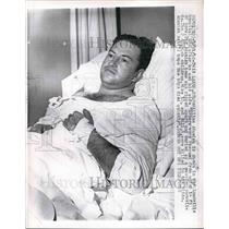 1962 Press Photo William Adamich in Leadville Hospital After Snowslide that Kill