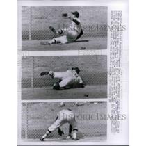 1963 Press Photo Caroll Hardey Leftfielder Houston Colt 45s Giants Game MLB