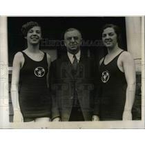 1928 Press Photo Miss Joan McSheehy, father Dr. Morgan McSheehy, sister Margaret