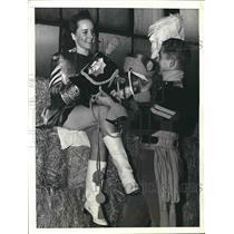 1940 Press Photo Lucille Johnson of Batesville, Arkansas, Corp. Damon Franklin
