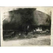 1930 Press Photo Hangar at Bureau of Standards 4 Planes on Fire