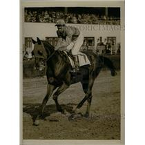 1939 Press Photo Johnny Oros Apprentice Horse Jockey Riding Nicholas S