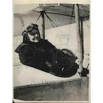 1928 Press Photo Pilot Fanny Hazlette During 8th Trip By Airplane - nea69208