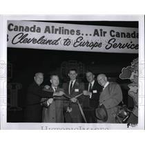 1961 Press Photo Ribbon Cutting ceremonies of Trans-Canada Air Lines-Air Canada.