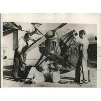 1932 Press Photo Jose Maris Antonio Cuesta Maura Small Plane Pilots - nea73006