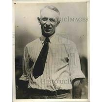 1929 Press Photo Owen Hoagland, Cessna Plane, Refueling Record Attempt