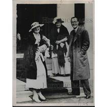 1936 Press Photo Princess Juliana Holland Prince Bernhard Netherlands