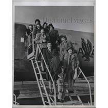 1946 Press Photo Philadelphia Pennsylvania American Airlines Plane
