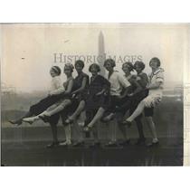 "1923 Press Photo Washington society debs for show ""Name It"""