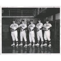 1961 Press Photo St Mary College Baseball Team - RRT18645