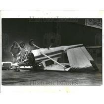 1980 Press Photo Plane Damate Willow Run Airport - RRT31035