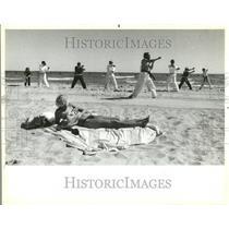 1984 Press Photo Karate On The Beach - RRT24965