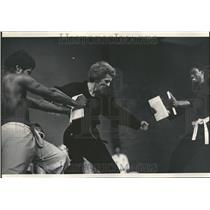 1972 Press Photo Karate Board Breaking Demonstration - RRT24951