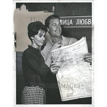 1961 Press Photo Millie Perkins Doug McSlure U S Steel - RRT16287