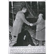 1962 Press Photo Prince Juan Carlos Gen. Franco - RRT64451