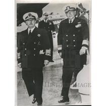 1954 Press Photo Vice Admiral Combs Gen. Franco - RRT64467